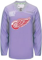 Reebok Detroit Red Wings NHL Hockey Fights Cancer Practice Men's Jersey