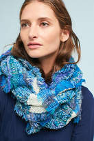 Anthropologie Jemelle Embroidered Infinity Scarf