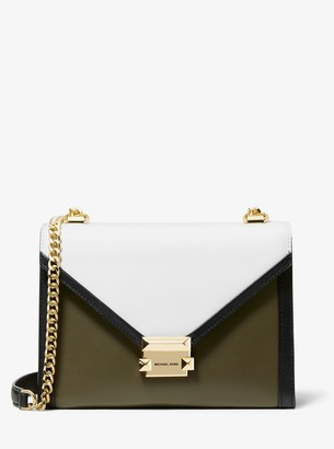MICHAEL Michael Kors Whitney Large Tri-Color Leather Convertible Shoulder Bag
