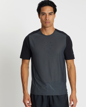 Nike Men's Black Short Sleeve T-Shirts - Tech Pack Running Top - Men's - Size S at The Iconic