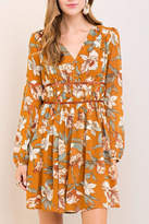 Entro Golden Floral Dress