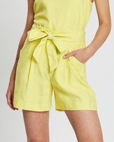 Mng Bow Flowy Shorts