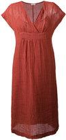 Masscob V-neck midi dress - women - Cotton/Linen/Flax - M