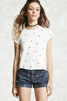 Forever 21 FOREVER 21+ Embroidered Saturn Tee