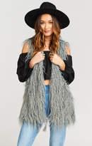 MUMU Luis Vest with Tassels ~ Arctic Fox Faux Fur