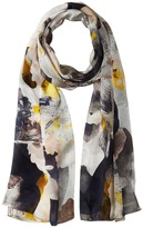 Vince Camuto Floral Photo Clash Oblong Scarf Scarves