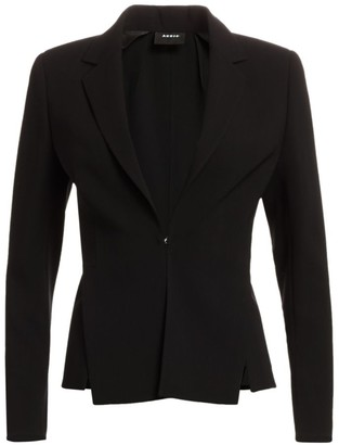Akris Slit Detail Wool Blazer