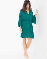 Soma Intimates Short Robe Green Ivy