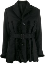 Comme des Garcons faux fur panel belted jacket