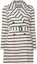 Vero Moda **Vero Moda Navy Stripe Coat