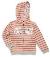 Petit Lem Little Boy's Striped Hooded Jacket