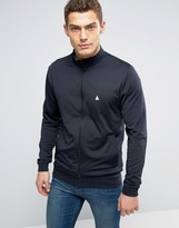 Asos Jersey Track Jacket In Navy With Logo