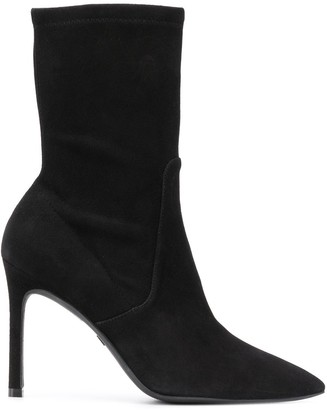 Stuart Weitzman pointed toe 90mm ankle boots