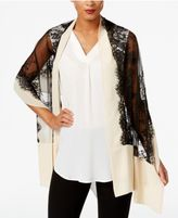 INC International Concepts Lace Overlay Wrap, Only at Macy's