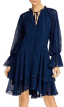 Alice + Olivia Joanne Tiered Handkerchief Dress