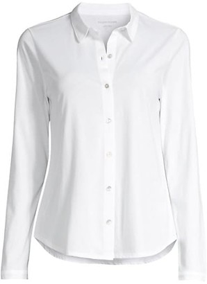 Eileen Fisher Organic Cotton Button Front Shirt