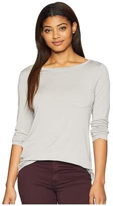 Prana Foundation Long Sleeve Tunic (Light Grey Heather) Women's Long Sleeve Pullover