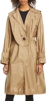 Moncler Vanille Tie Hood Water Resistant Trench Coat