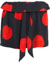 Vivienne Westwood Kung Fu Polka-Dot Crepe Shorts