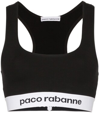 Paco Rabanne Logo-Band Sports Bra