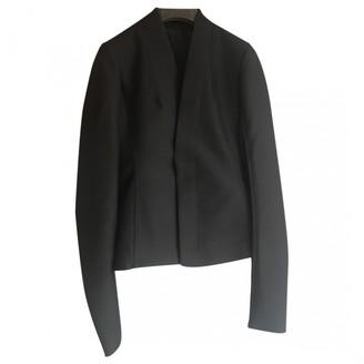 Rick Owens Black Wool Jackets