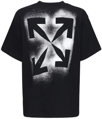 Off-White Over Logo Print Cotton Jersey T-shirt