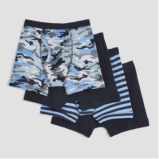 Joe Fresh Kid Boys 4 Pack Boxers, Print 2 (Size S)