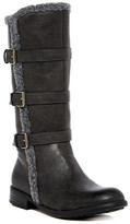 Kenneth Cole New York Tall Faux Fur Trimmed Buckle Boot (Little Kid & Big Kid)