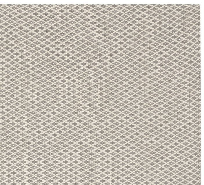 Pottery Barn Basic Diamond Recycled Yarn Indoor/Outdoor Rug - Gray