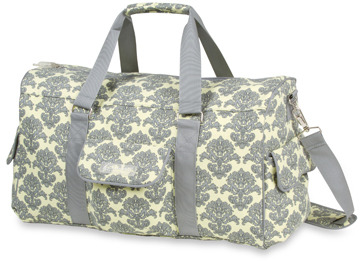 Bed Bath & Beyond The Bumble Collection Jennifer Weekender Yellow Filagree Diaper Bag