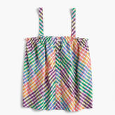 J.Crew Button-front top in rainbow gingham