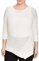 Love Scarlett Plus Asymmetric Pointelle Sweater