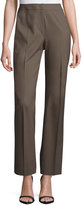 Lafayette 148 New York Classic Contemporary Stretch-Knit Pants, Lead