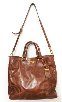 Prada Brown Leather Handbags