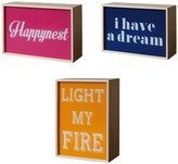 Seletti Light my Fire\/ I Have a Dream\/ Happynest Light Box