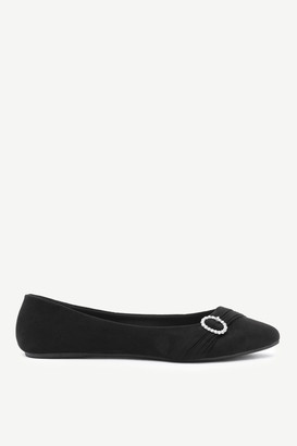 Ardene Pleated Brooch Ballerina Flats