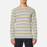 Armor Lux Men's 4 Stripe Long Sleeve Top Nature/Acacia/Seal