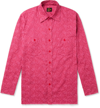 Needles Embroidered Cotton And Linen-Blend Shirt