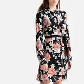 Vero Moda Floral Print Shirt Dress with Tie-Waist