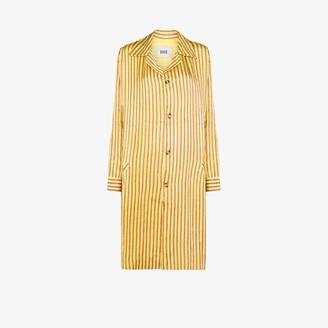 Bode Mashroo stripe long coat