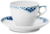 Royal Copenhagen Princess Coffee Cup & Saucer Set - White/Blue