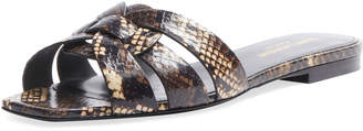 Saint Laurent Tribute Flat Snake Slide Sandals