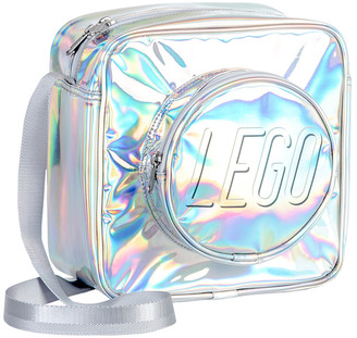 Lego Carry Gear Solutions Handbags Silver Holographic Brick Crossbody Bag