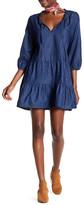 Tassels N Lace Ruffle Denim Dress
