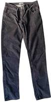 Masscob Black Cotton Trousers for Women