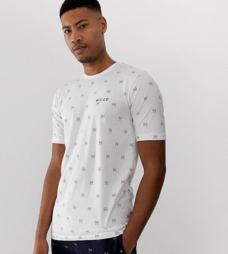 Nicce t-shirt with all over logo in white