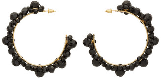 Simone Rocha Black Crystal Large Daisy Hoop Earrings