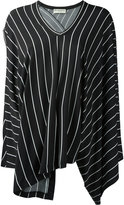 Balenciaga - blouse drapée rayée -