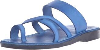Jerusalem Sandals The Good Shepherd - Leather Toe Loop Sandal - White
