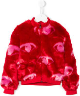 Kenzo Eyes faux fur jacket - kids - Acrylic/Polyester - 2 yrs